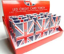 Union Jack LED carta di credito TORCIA, UK bandiera Britannica Londra Inghilterra GB SOUVENIR