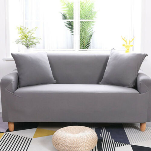 2 3 Seat Sofa Covers Slipcover Couch Stretchable Polyester Elastic Full Cover