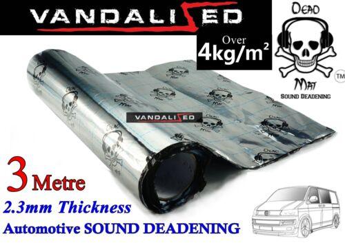 VAN CAR SOUND DEADENING PROOFING DEAD MAT METAL FOIL AUDIO PANEL 3M VW T 5 6