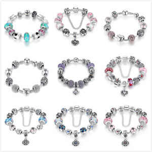 Bamoer-European-Style-925-Sterling-silver-Charms-bracelet-With-CZ-Bead-For-Women