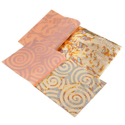 25 Sheets Variegated Gold Leaf Sheets 5.5 inch Gliding Crafting Projects