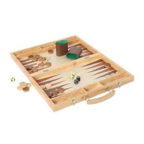 Bartl 1802 Backgammon Valigetta con accessori legno gioco di società Nuovo! #