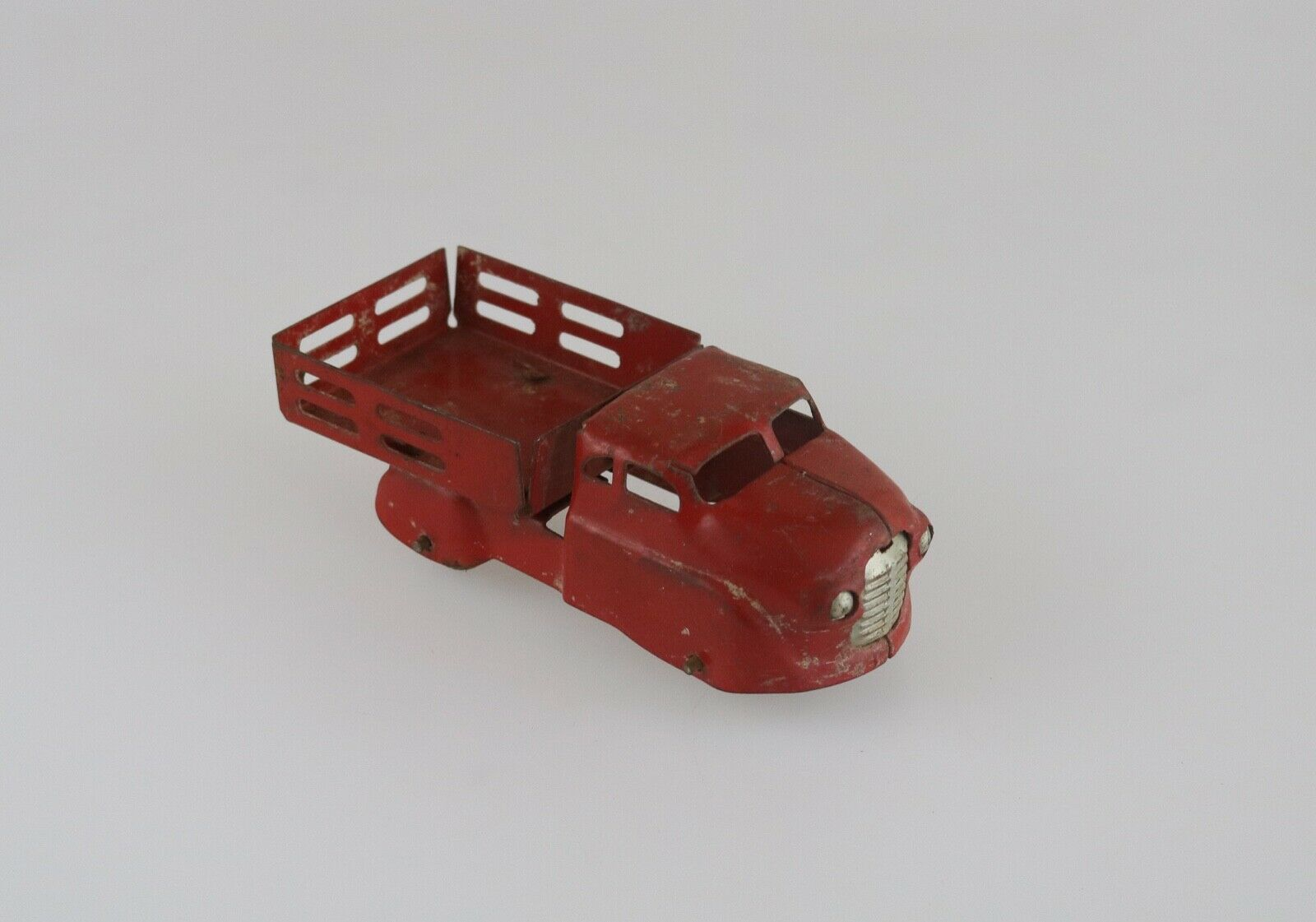 Vintage Metal Diecast Dump Truck 1950's Red Collectible Made in USA