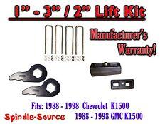 "1988 - 1998 Chevrolet GMC K1500 Torsion Level 3"" FORGED KEYS + 2""  REAR Blocks"