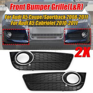 Audi A5 2008-2012 Original Vorne Stoßstange Nebel Licht Gitter Schwarz Links
