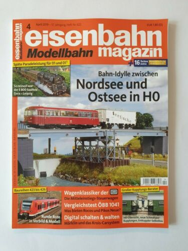 622  Nordsee /& Ostsee in H0 Eisenbahn Magazin 4//2019 Heft Nr 1A TOP