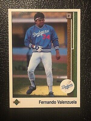 1989  FERNANDO VALENZUELA LOS ANGELES DODGERS Kenner Starting Lineup Card