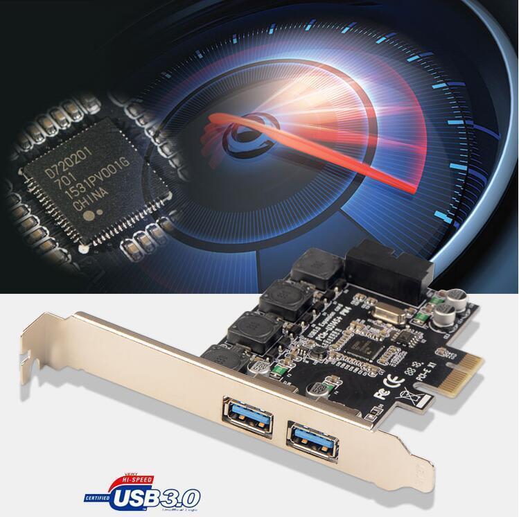 huicouldtool USB 3.0 PCI-E Express 19pin Connector 15pin SATA Power Expansion Controller Adapter Card for Window//XP//Vista