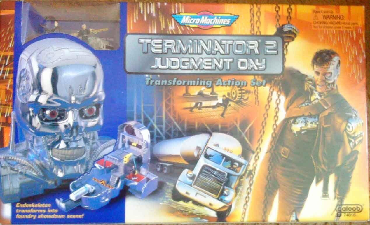 Mikromaskin - terminator 2 verkan set t-800 t-1000 domedagen