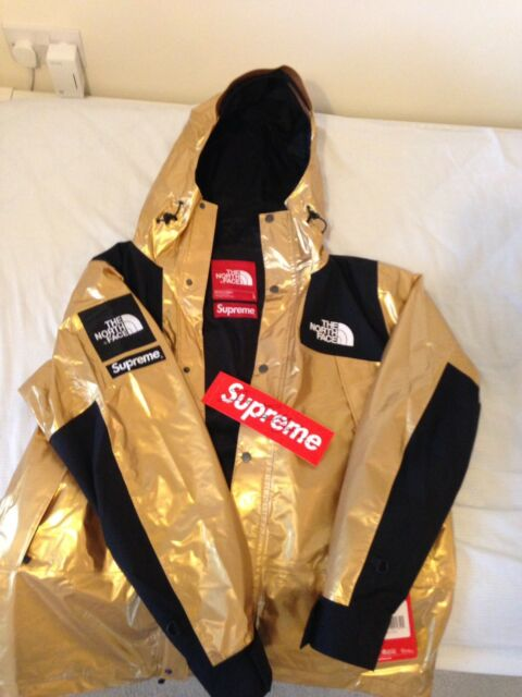 b828114b2 (Read description) Supreme The North Face Metallic Mountain Parka Large Gold
