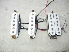 Genuine Fender Stratocaster Tex Mex Pickup set HSS with Humbucker White