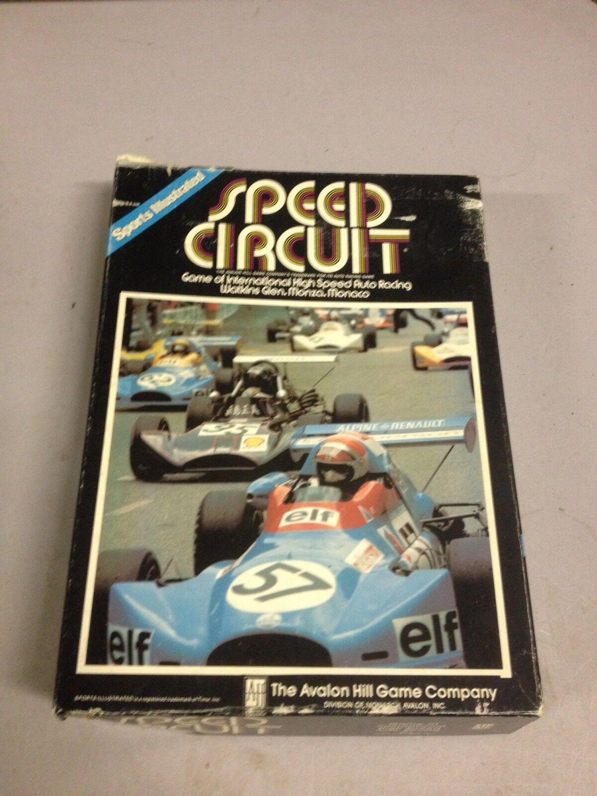 Avalon Hill Sports Illustrated Speed Circuit  libroshelf gioco Vintage (d23)  migliore offerta