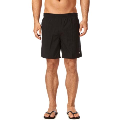 "SPEEDO Pantaloncini da uomo nuoto NUOVO SOLIDO Leisure 16/"" ACQUA NERO BAULI nuotatori 910001"