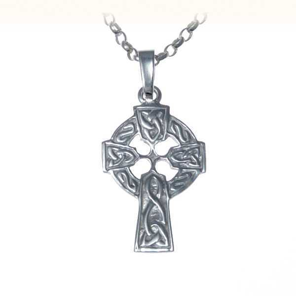 """Beautiful Sterling Silver Celtic Cross Pendant with 18"""" Silver Chain"""