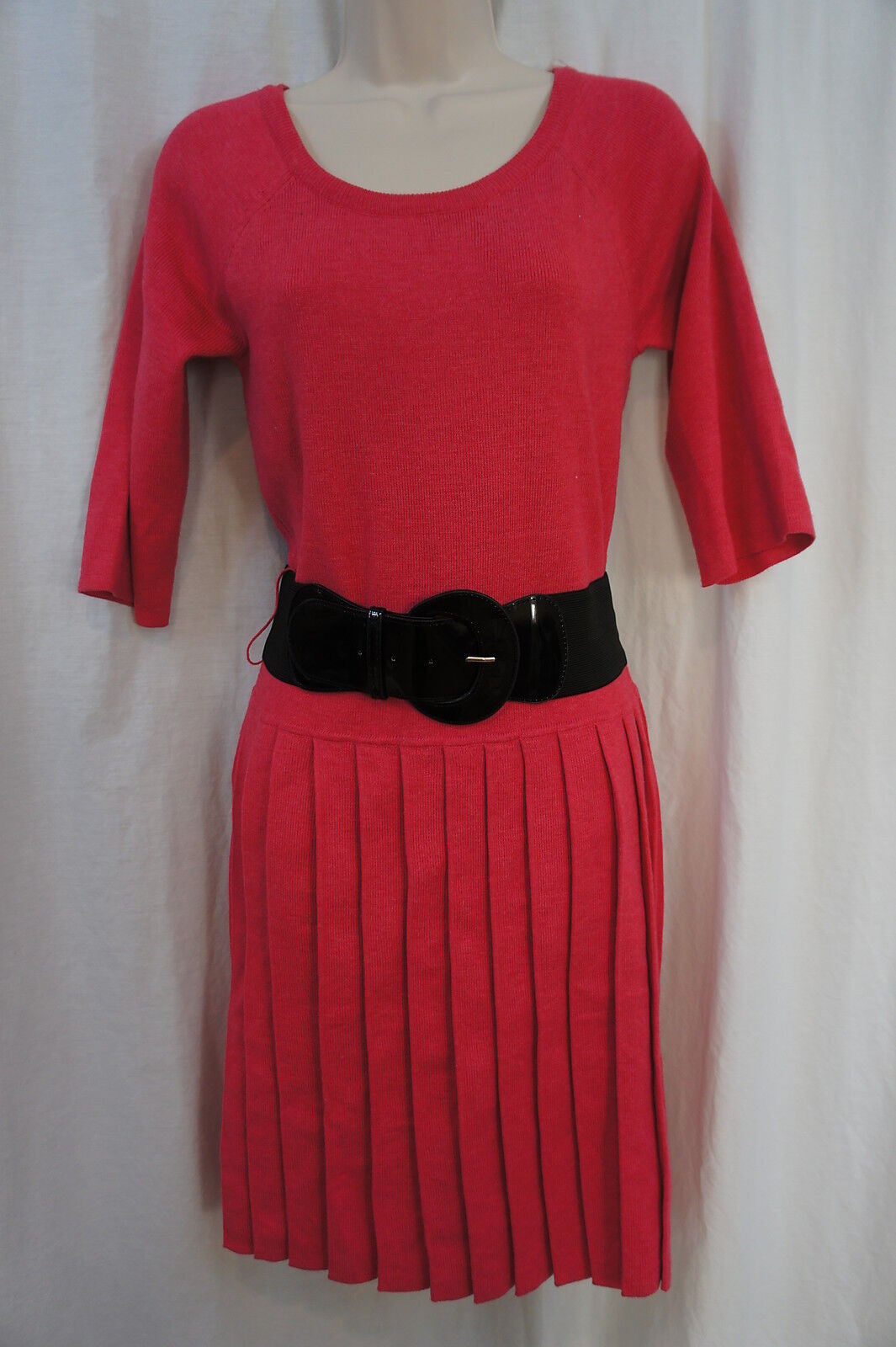 Signature by Robbie Bee Dress Sz XL Pink Belted Waist Casual Party Dress