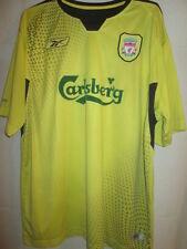 Liverpool 2004-2005 yellow soccer Away Football Shirt Size Large 42