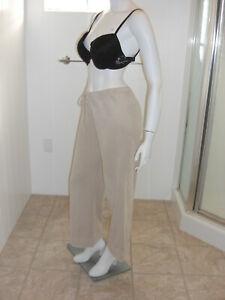 NY-Jeans-Beige-Drawstring-Summer-Capri-Cropped-Mid-Rise-Pants-Sz-S