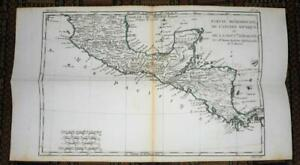 Details about XRARE: 1780 map of Southern Mexico (aka New Spain) by M.  Bonne hand-colored