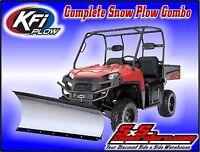 Kfi 60 Tapered Snow Plow Kit Polaris Ranger Full Size Xp 570 Crew 2015-2016+