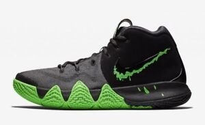brand new 23c63 0f5dc Details about Nike Kyrie Irving 4 IV Halloween Black Rage Green 943806 012  Mens & Kids GS