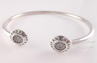 Genuine PANDORA SIGNATURE LOGO Open Bangle Bracelet 590528CZ PICK Sz &  Packaging | eBay