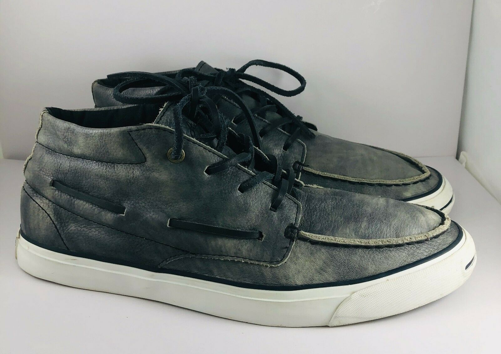 Vintage Converse JACK PURCELL Navy bluee Leather Sneakers Size Men's 9.5 Women 11
