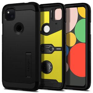 Google Pixel 4a (2020) Case Spigen® [Tough Armor] Black Shockproof Slim Cover