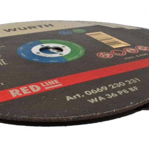 WURTH ® Disques Coupe 230 x 1.9 x acier inoxydable 22.23 mm Meuleuse d/'angle Precision