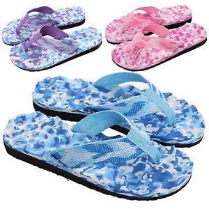 f0517a058 UK Summer Women Ladies Beach Flip Flops Flat Slippers Massage ...