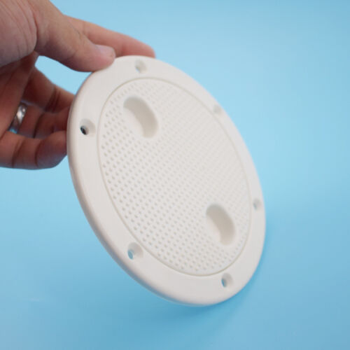 Boat Marine 4/'/' round access hatch cover lid screw out deck Plastic New Arrival