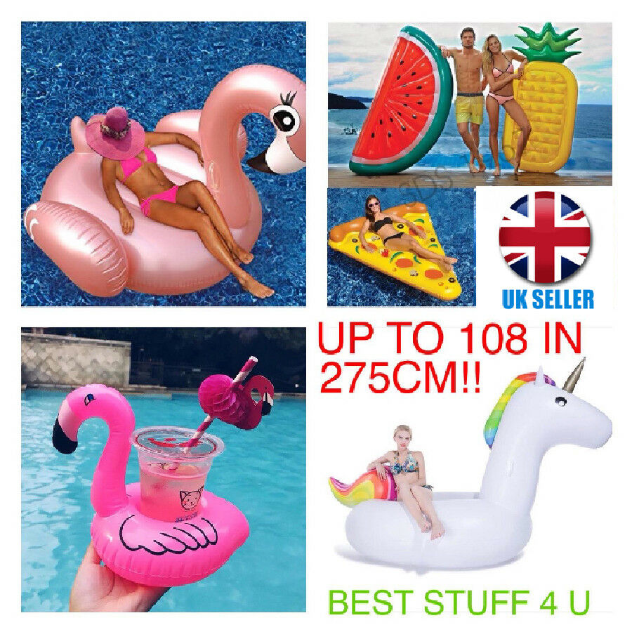 Inflatable Giant Unicorn pink gold Flamingo Pizza Lips Watermelon Pineapple 57a