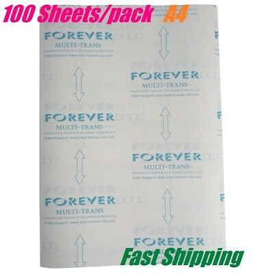 CDs Wood 100 Sheets A4 Hard Faces Laser Transfer Paper for Pens Metals Mugs