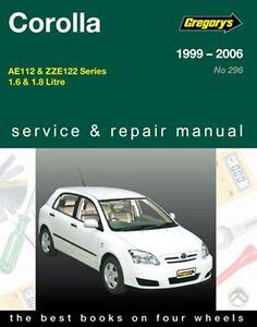 gregory s service repair manual toyota corolla 1999 2006 owners rh ebay com au 2006 corolla repair manual pdf 2006 toyota corolla workshop manual