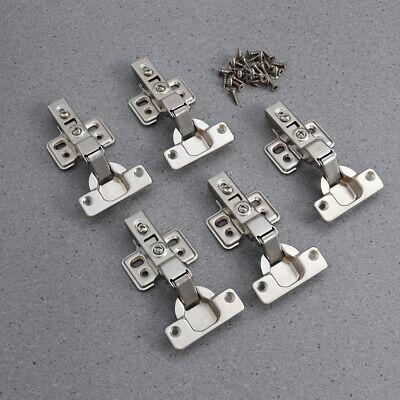 5pcs 35mm Weich Schließen Scharnier Küchen Schrank Tür Voll Überzug Schrauben