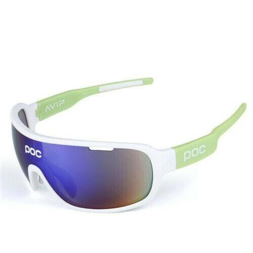 Mode 5 Stück POC Sonnenbrille Polarisiert Fahrradbrille Sportbrille Brille