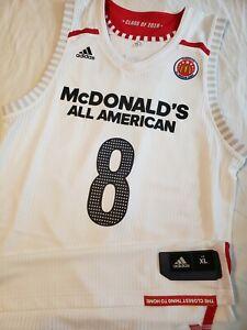 innovative design b48e1 45d38 Details about Cam Reddish 2018 McDonald's All American HS Authentic Jersey  Atlanta Hawks Duke