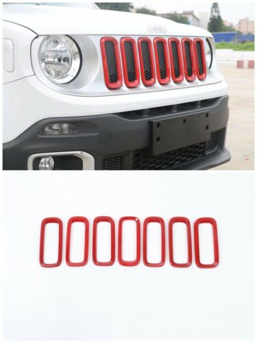 Car Front Grille Inserts Mesh Grill Accessories For 2015-2017 Jeep Renegade Red