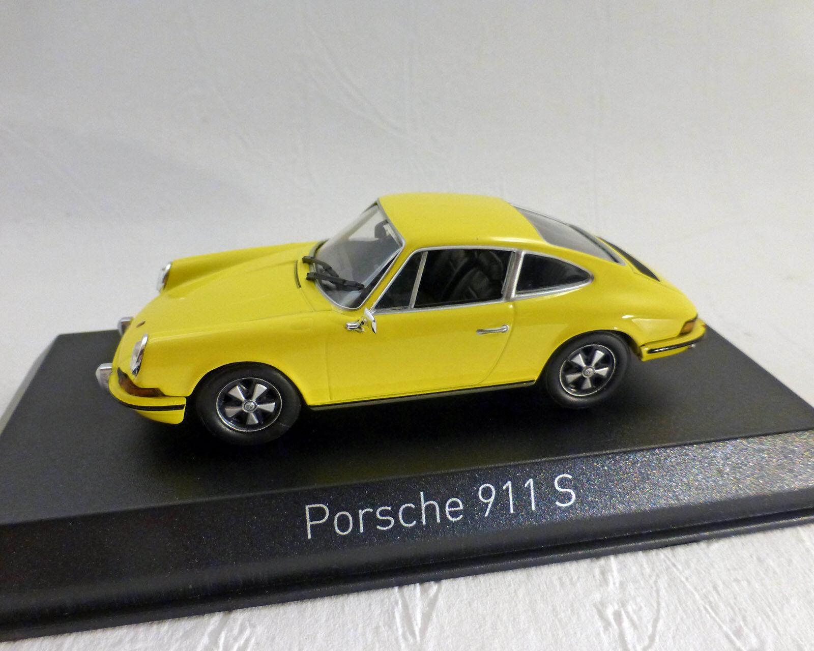 Porsche 911 S, Yellow, Norev 1 43