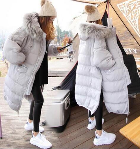Women Real Fur Puffer Duck Down Parka Winter Warm down jacket Coat Outwear Khaki