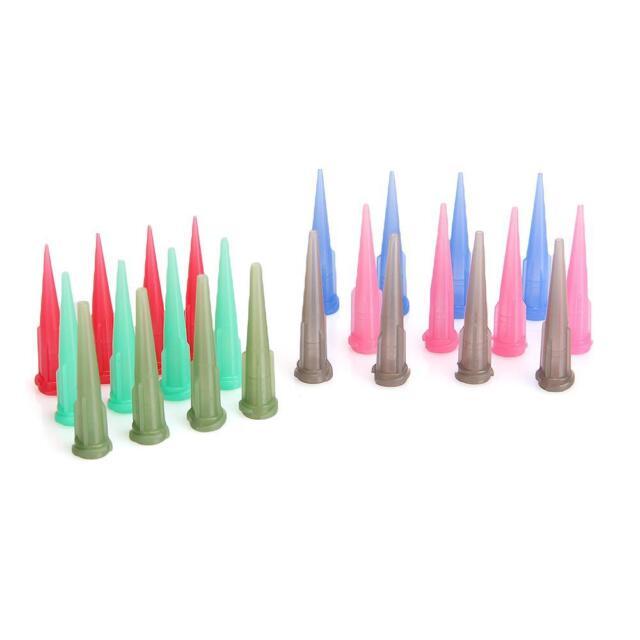 60 x TT Blunt Glue Liquid Dispensing Needle Plastic Tapered Tips Random Color