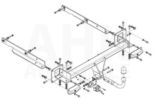 Anhängerkupplung starr AHK Für Mercedes GL X164 06-12 Kpl