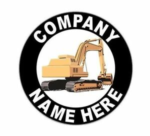 "2 Personalized 12"" Excavator Crawler Decals for your Dump Truck Grapple Thumb"