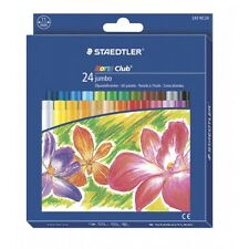 STAEDTLER NorisClub 24 Jumbo Oil Pastels for Colouring Blending Etching 243 NC24