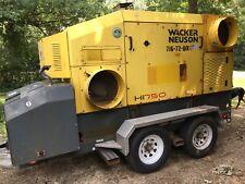 Wacker Hi750 Diesel 750k Btu Heater Generator On Trailer