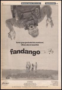 FANDANGO-Original-1985-Trade-AD-poster-KEVIN-COSTNER-JUDD-NELSON-SUZY-AMIS