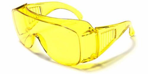 Polycarbonate Safety Glasses wear over normal Spectacles Clear Yellow Grey SS58