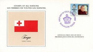 DRAPEAU-PREMIER-JOUR-LES-TIMBRES-DE-TOUTES-LES-NATIONS-TONGO-1986