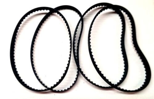 """4 140XL037 Timing Belts 70 Teeth Cogged Black Rubber Toothed Belt 14/"""" Long LOOK"""