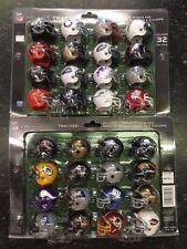 Complete 32 NFL teams mini helmet set Helmet tracker with display boards AFC NFC