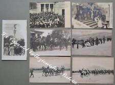 VISITE FAMIGLIA REALE - SAVOIA. Sette cartoline d'epoca (una viaggiata nel 1922)